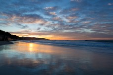 Sunrise over St Clair Beach, Dunedin, New Zealand.