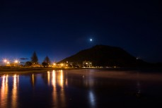 Evening at Mount Maunganui, New Zealand.