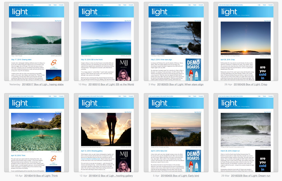 Subscribe to Box of Light ... it's free!