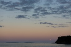 Sunset over Sandy Bay, Northland, New Zealand.