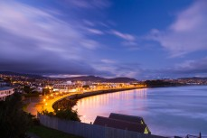 Dusk during winter at St Clair Beach, Dunedin, New Zealand.