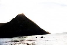 San Francisco artist Ian Ross makes the most of a sun-drenched dawn session at Blackhead Beach, Dunedin, New Zealand.